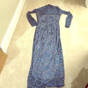 🍰Sale! ASOS periwinkle blue floral lace maxi dres